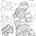 Dinotrux coloring pages Ty and Dozer