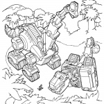 Dinotrux coloring pages Ty and Skya
