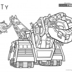 dinotrux coloring pages ty black and white