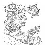 Dinotrux Ty coloring pages run to work