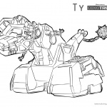Dinotrux coloring pages Ty lineart