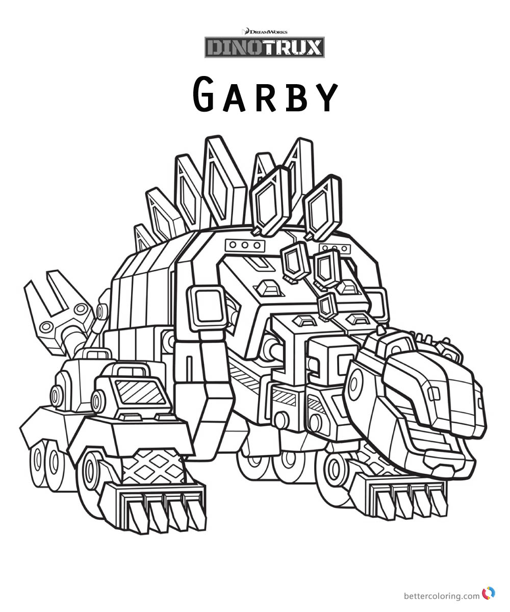 Dinotrux Garby coloring pages printable