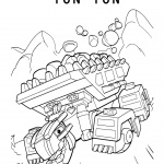 Dinotrux Ton-Ton coloring pages