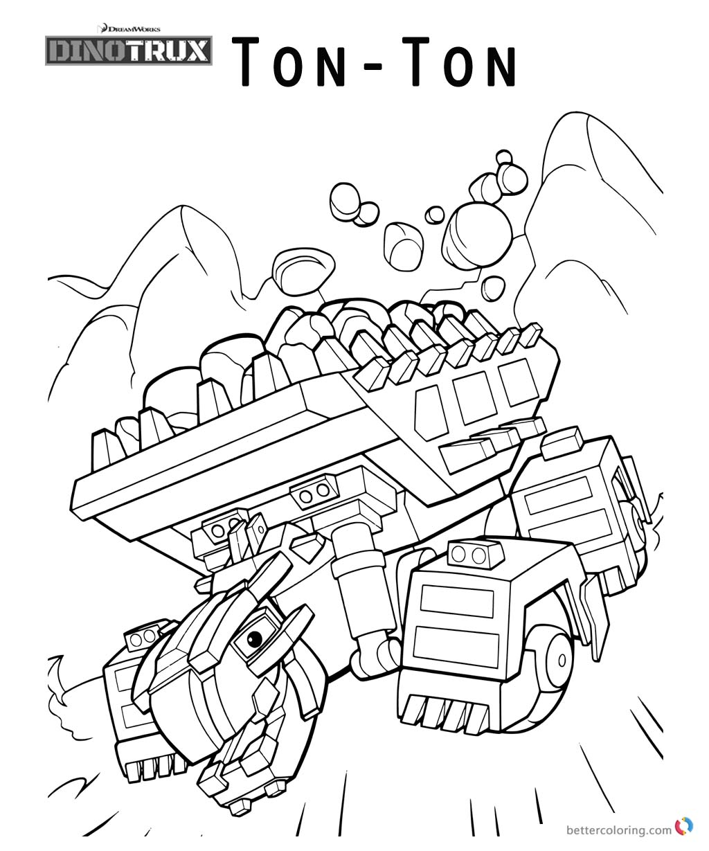dinotrux ton ton coloring pages free printable coloring