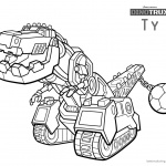 dinotrux ty coloring pages