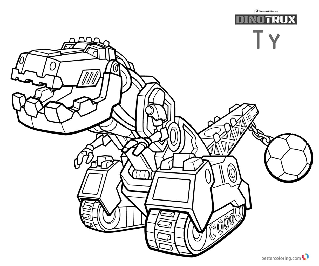 Dinotrux Ty coloring pages printable