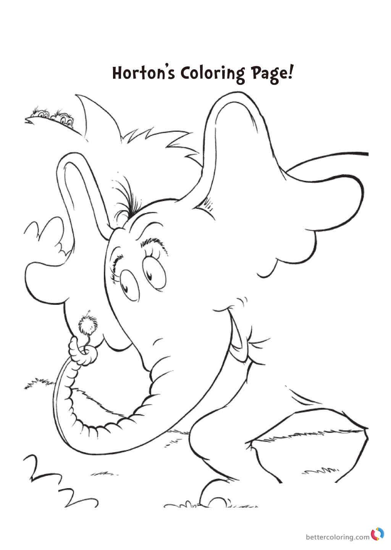 Dr Seuss coloring pages HORTON printable