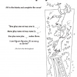 dr seuss coloring pages SONG BOOK I Can Figure