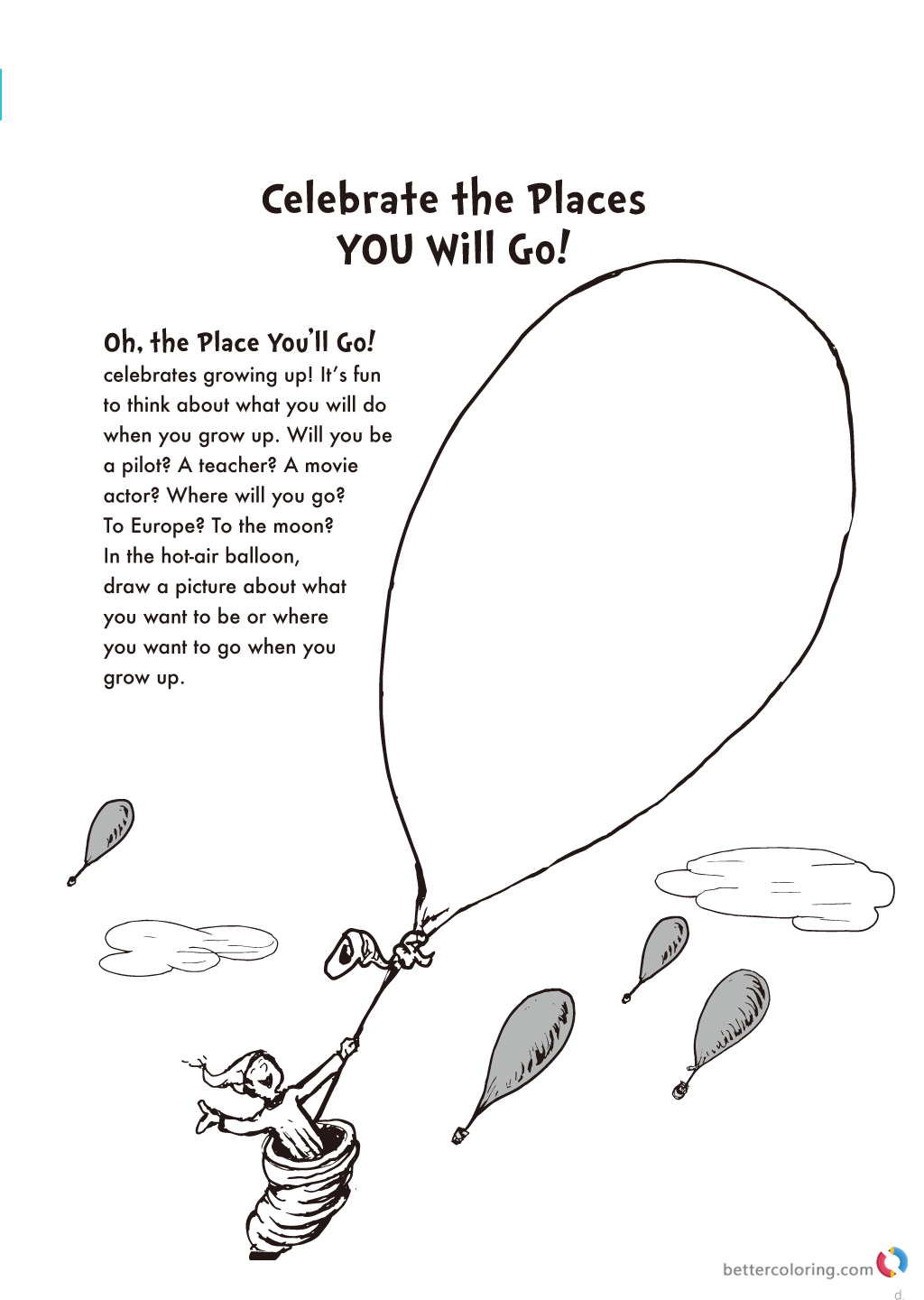 Dr Seuss Coloring Pages When I Grow Up