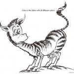 Dr Seuss coloring pages ZEBRA