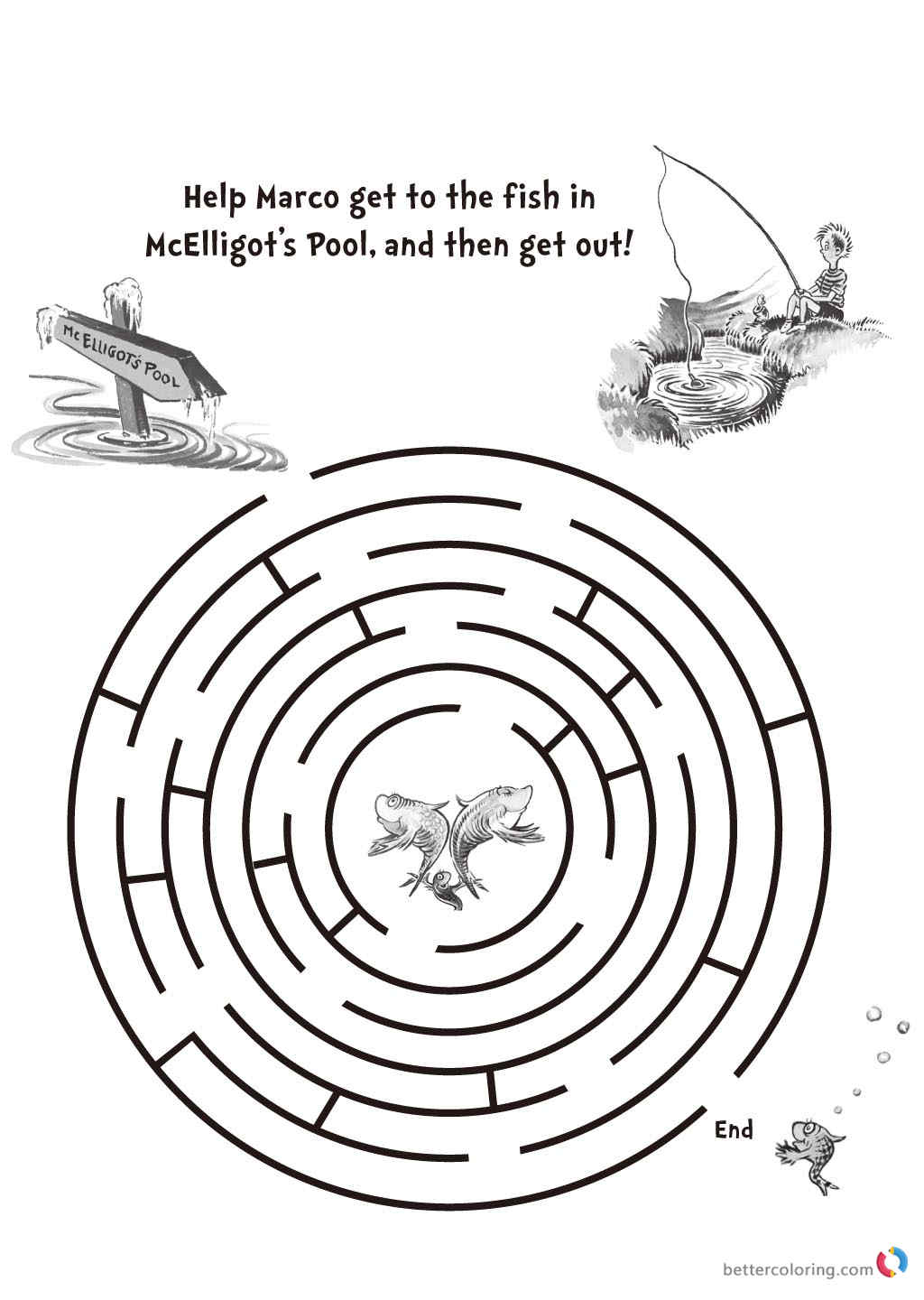 Dr Seuss coloring pages get the