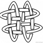 Adults Celtic Knot Coloring Pages Template