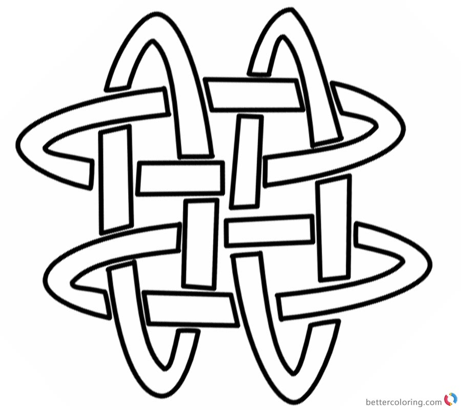Adults Celtic Knot Coloring Pages Template Free Printable Coloring
