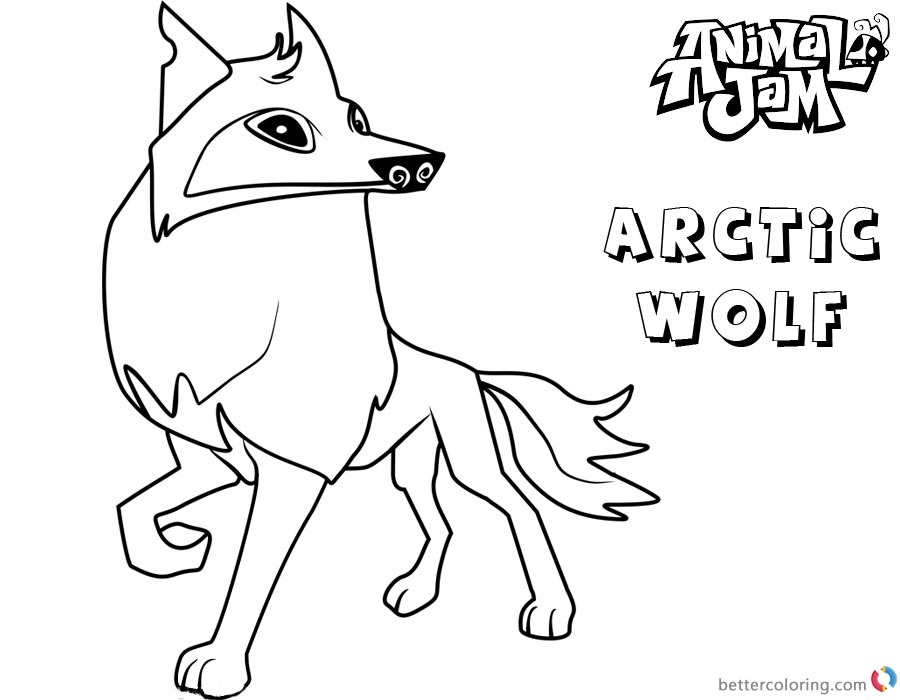 Animal Jam Coloring Pages Arctic wolf - Free Printable ...
