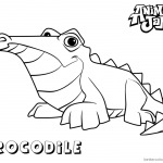 Animal Jam Coloring Pages Crocodile