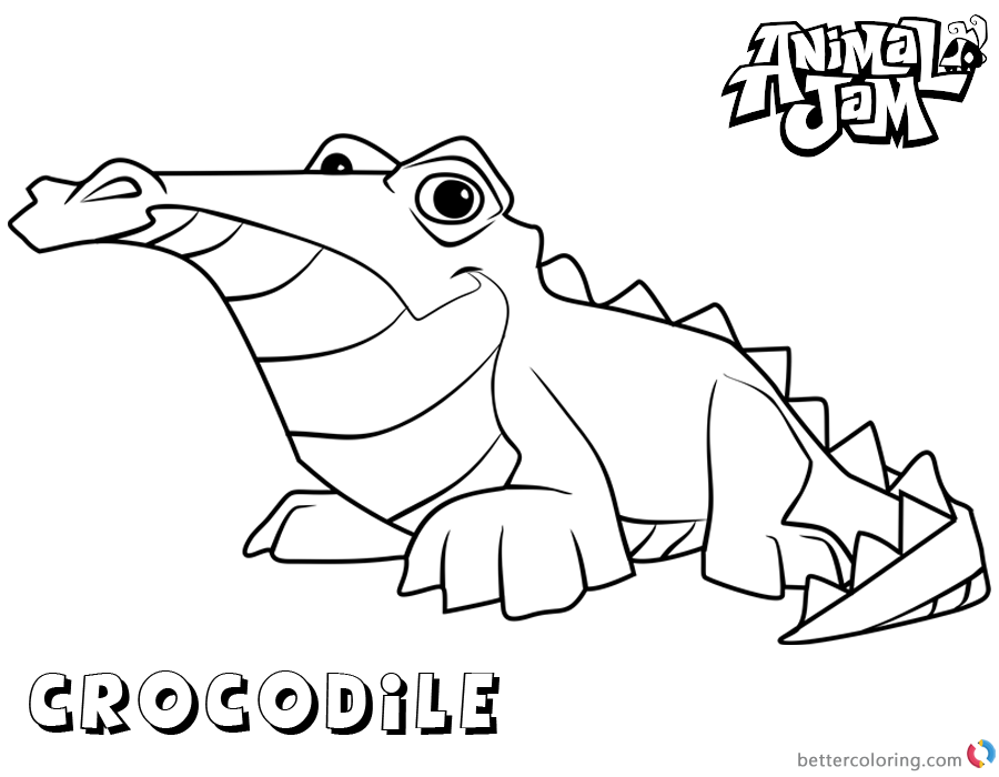 Animal Jam Coloring Pages Crocodile printable