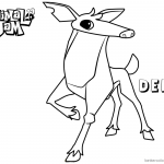 Animal Jam Coloring Pages Deer