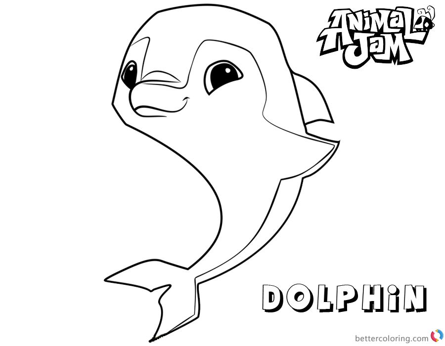 Animal Jam Coloring Pages Dolphin printable