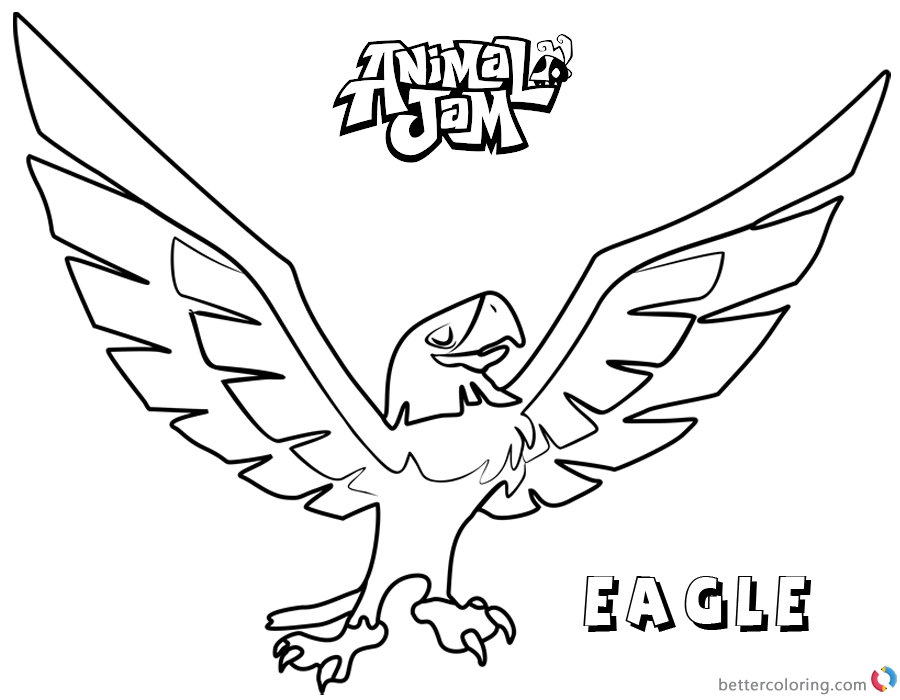 Animal Jam Coloring Pages Eagle printable