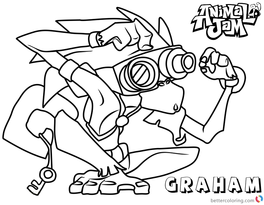 Animal Jam Coloring Pages Graham printable