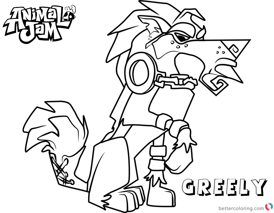 Animal Jam Coloring Pages Greely - Free Printable Coloring ...