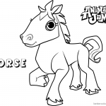 Animal Jam Coloring Pages Horse