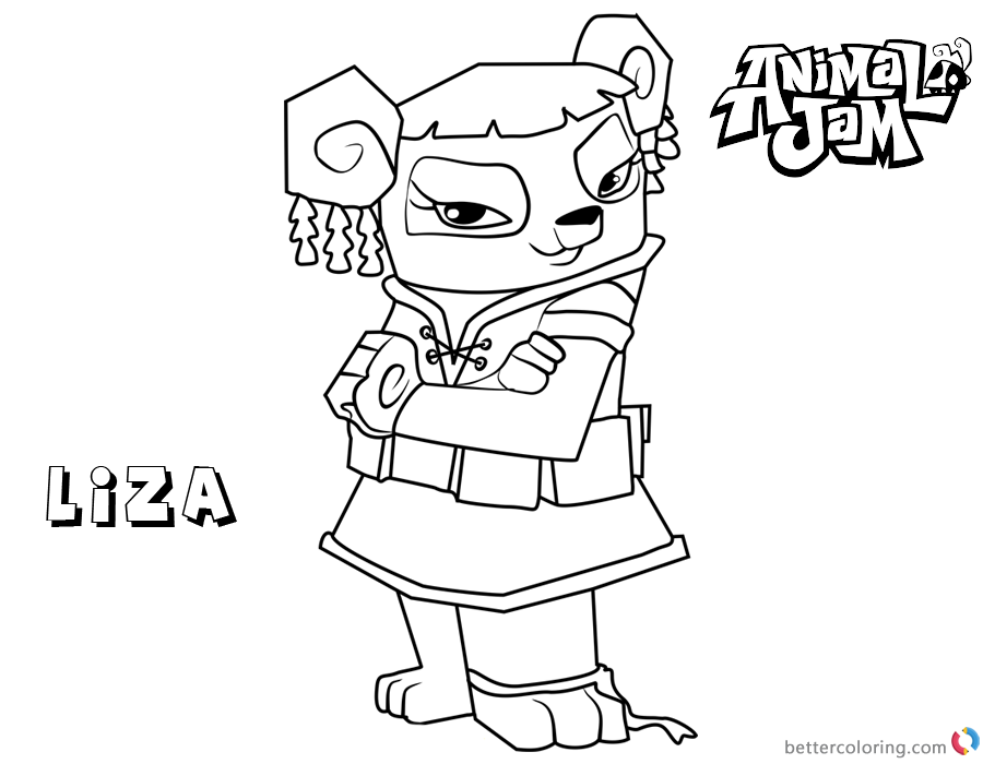 Animal Jam Coloring Pages Liza - Free Printable Coloring Pages