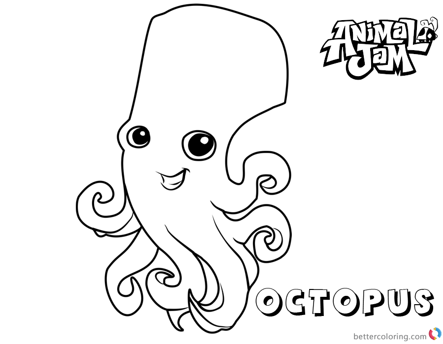 Animal Jam Coloring Pages Octopus Free Printable Coloring Pages