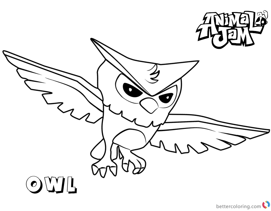 Animal Jam Coloring Pages Owl printable