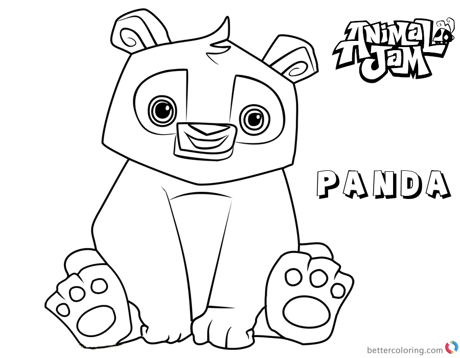Animal Jam Coloring Pages Panda printable