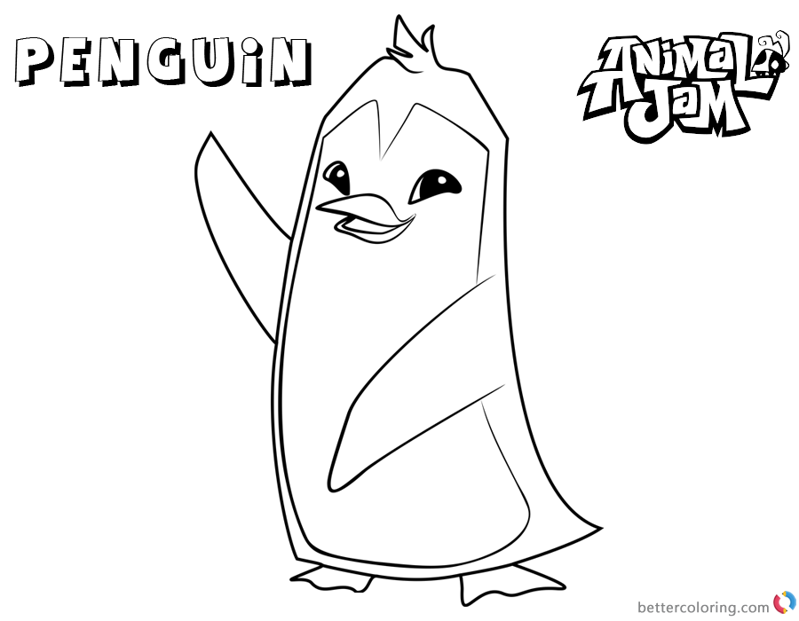 Animal Jam Coloring Pages Penguin printable