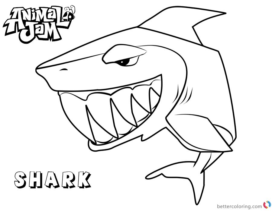 Animal Jam Coloring Pages Shark printable
