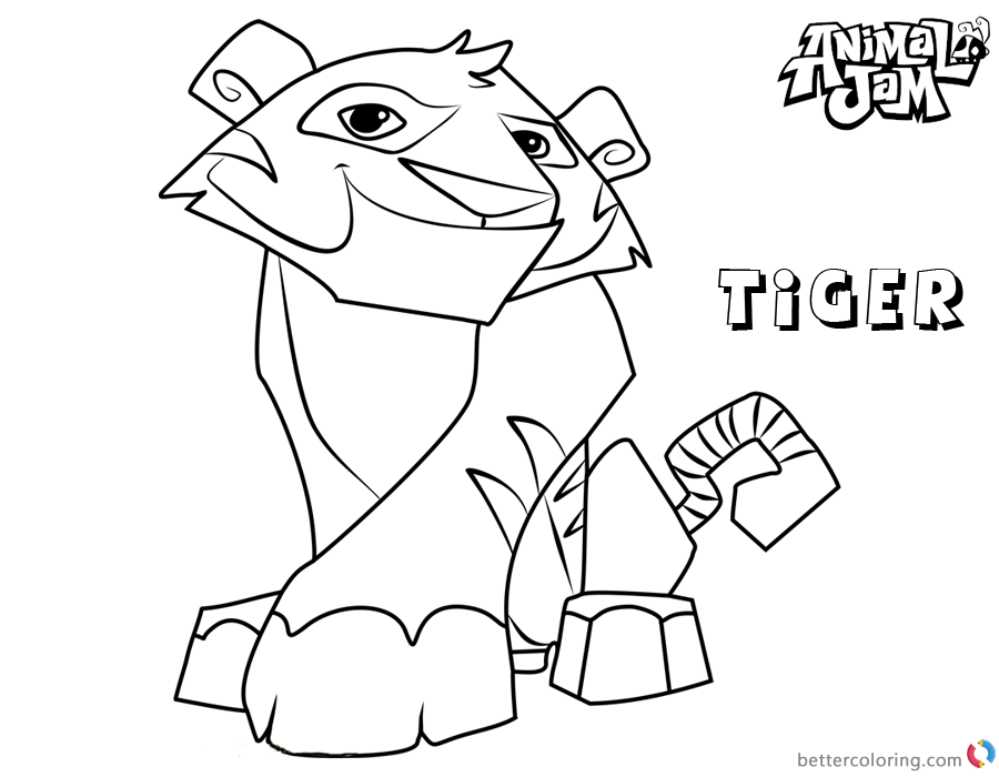 Animal Jam Coloring Pages Tiger - Free Printable Coloring Pages