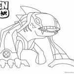 Arctiguana from Ben 10 Coloring Pages Alien Force