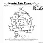 Barn Coloring Pages Many animals in the barn