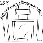Barn Coloring Pages Simple sketch