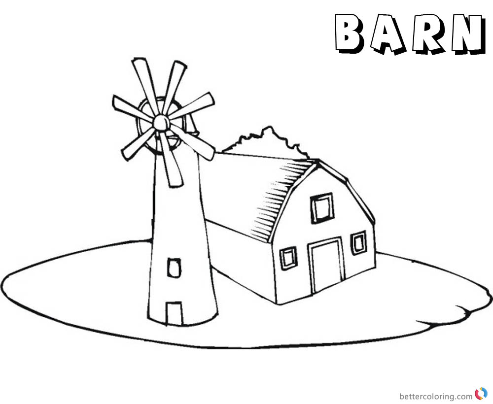 barn coloring pages for kids - photo#19