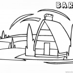 Barn Coloring Pages barn clipart