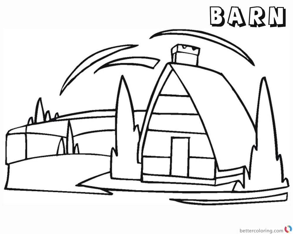 Barn Coloring Pages barn clipart printable