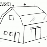 Barn Coloring Pages barn with two doors