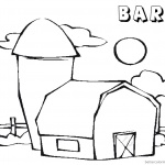 Barn Coloring Pages cute barn picture