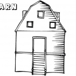 Barn Coloring Pages empty barn