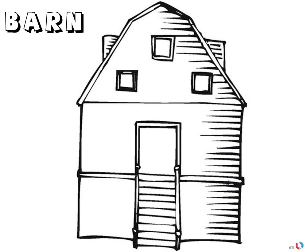 barn coloring pages empty barn printable - Barn Coloring Pages Free