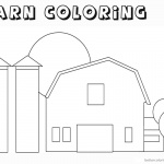Barn Coloring Pages outline coloring