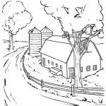 Barn Coloring Pages realistic clipart