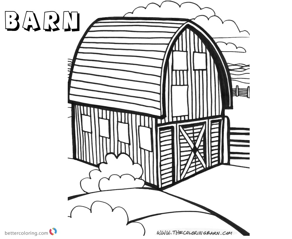 Barn Coloring Pages round barn - Free Printable Coloring Pages
