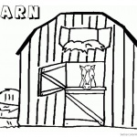 Barn Coloring Pages sad horse