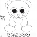 Beanie Boo Coloring Pages Bamboo