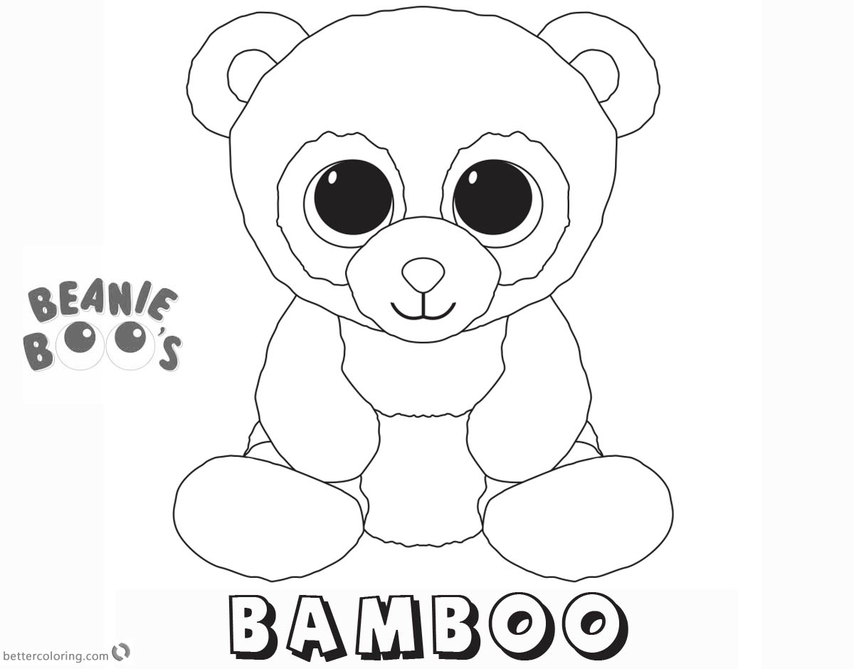 Beanie Boo Coloring Pages Bamboo Free Printable Coloring