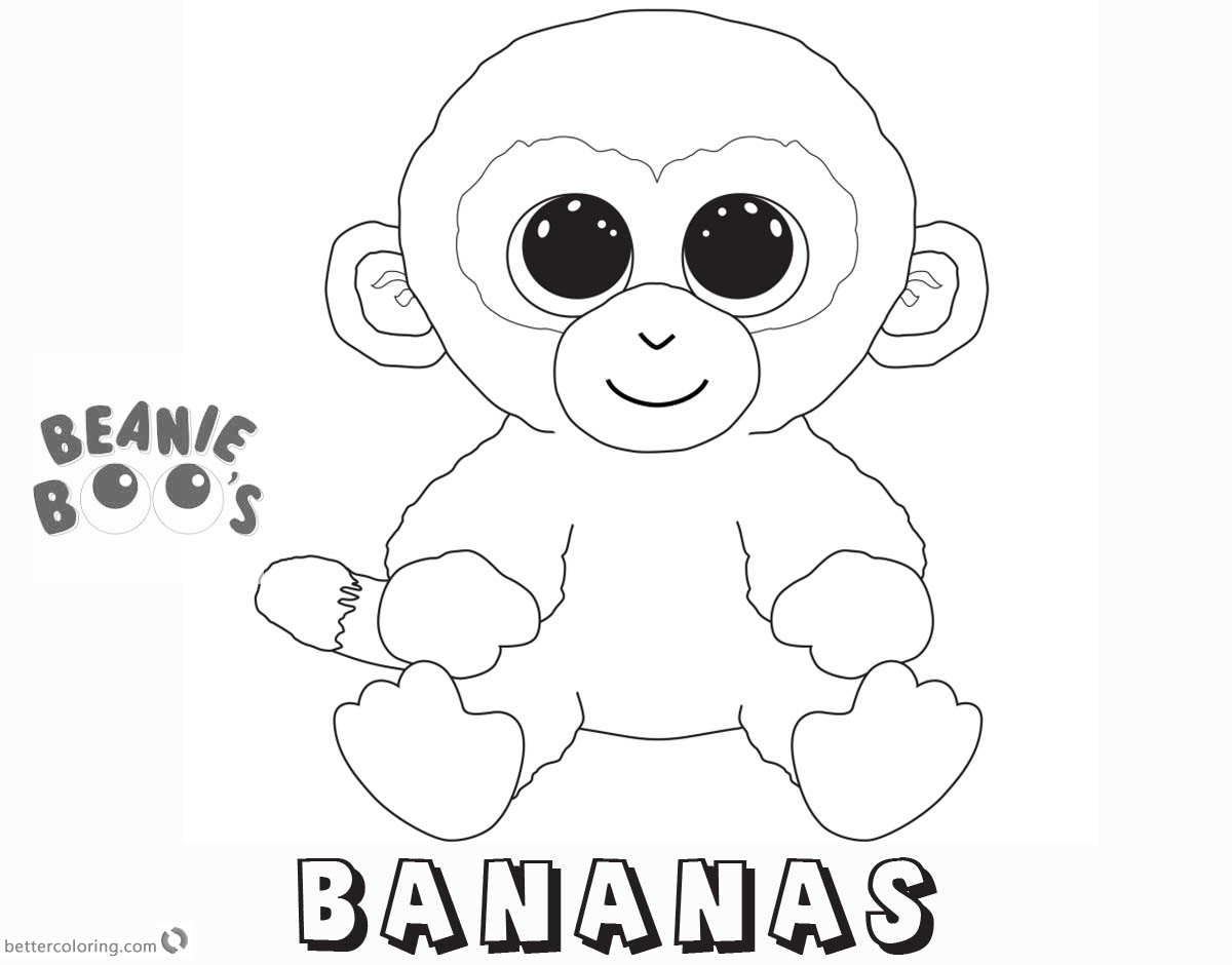 Free Beanie Boo Coloring Pages bananas Printable